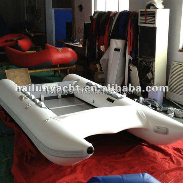 Pvc tubes inflatable sailing catamaran