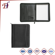 A4 zipped Conference PU Portfolio with Notepad and Business Embossed PVC Folder Portfolio