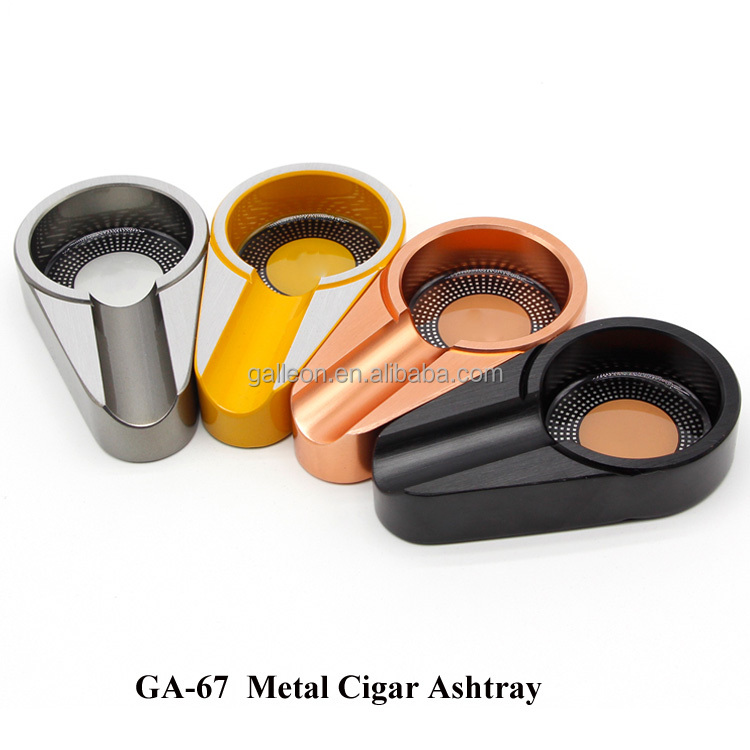 Metal Cigar Ashtray Mini Smoking Ashtray Pocket Cigarette Cigar Ash tray