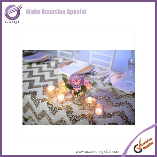 18647 gold detector sequins designs wedding table cloth