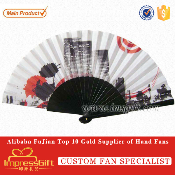 Customise promotion wood fan for gift