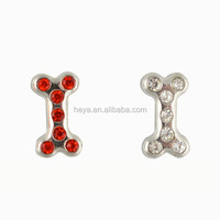 Top sale dog bone floating charms wholesale in living locket