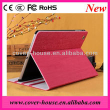 New arrvial Wood Grain stand leather case with Sleep function for iPad 2 3 4 Tablet pc cover case