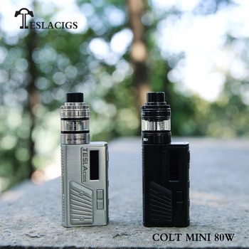 Teslacigs Colt Mini 80w, very delicate and exquisite vape mods with stylish appearance design and bright OLED screen