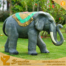 outdoor life size fiberglass elephant sculpture for sale