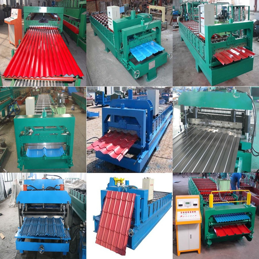 Metal Glazed Steel Profile Galvanized Roofing Sheet Tile Roll Forming Machine For Sale
