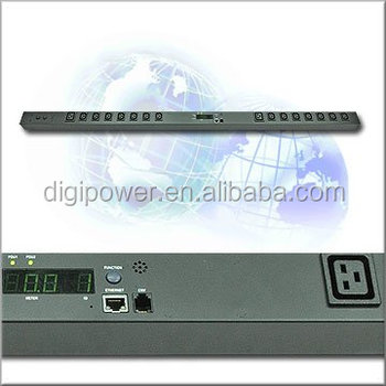 Power Socket/16 ways PDU with current display/rack mount PDU