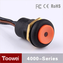 Factory custom small momentary door release push button switch