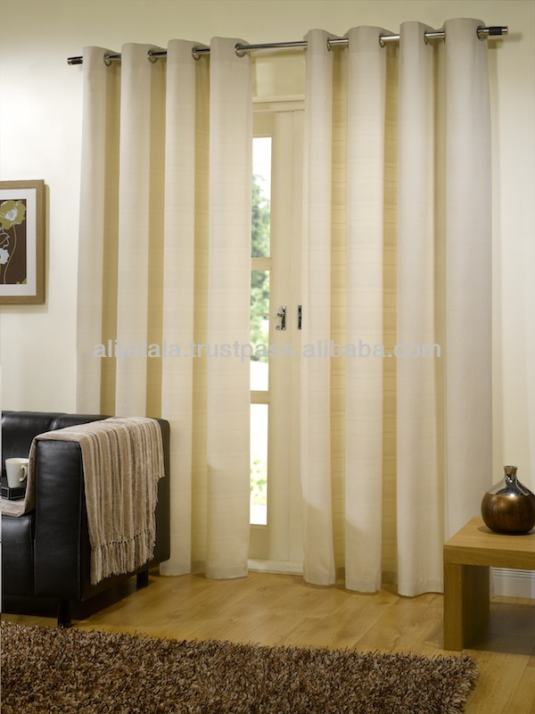 100% Cotton Lined Eyelet Curtain