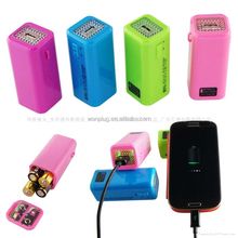 multiple aa batteries emergency mobile phone power bank battery charger