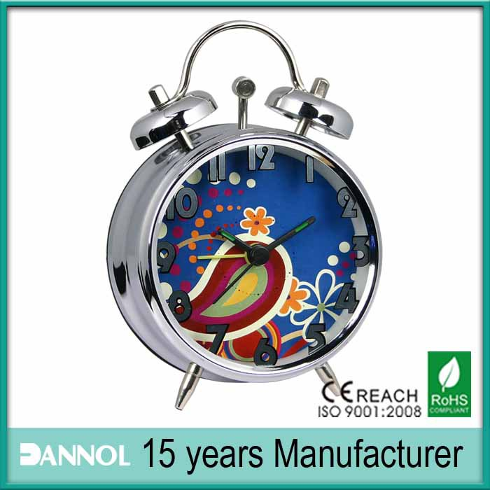 3 inch mini alarm spring metal desk quartz clock for promotion and git