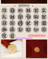 Elegant gift and document sealing letter stamp wax seal