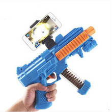 3D AR Gun with Phone Stand Holder Wireless bluetooth 4.0 Wooden DIY AR Gun Toys VR Games for iPhone Android smartphone