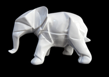 resin white lovely elephant
