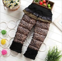 D86276H winter new design children's leopard print down pants