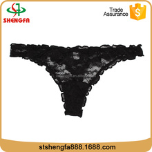 High Quality Teens Girls Thongs Cute Thong With black lace thongs