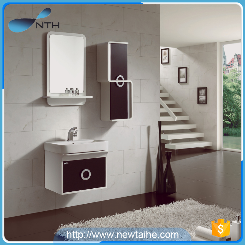 NTH a set of black solid wood french hotel waterproof modern bathroom furniture