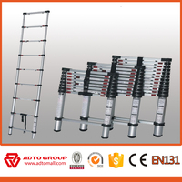 Stick ladder CE-EN131 approval 3 steps compact telescopic Aluminum folding ladder