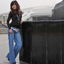 Wholesale wide leg jeans pants sample