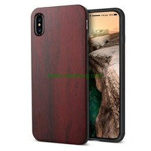 Hot Sale Durable Natural Solid Wood +Soft TPU Phone case for iPhone X
