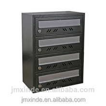 best seller modern mailbox 6 doors powder coating apartment mailbox