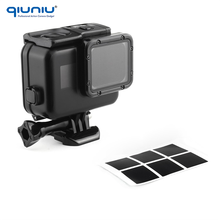 QIUNIU 40m Waterproof Housing Case for GoPro HERO 5 Black with Solid Backdoor and LCD Touch Backdoor