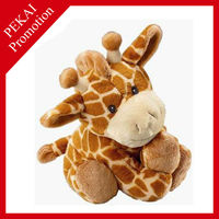Plush giraffe organic baby toys with beautiful pictures