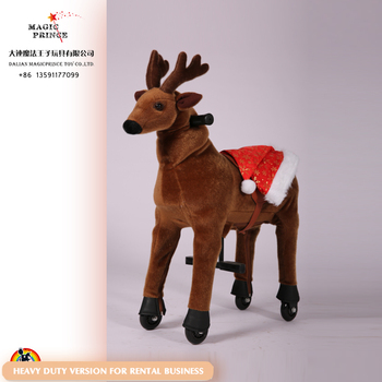 Ride on animal for rental business, animal riding toy for adult, ride on horse toy