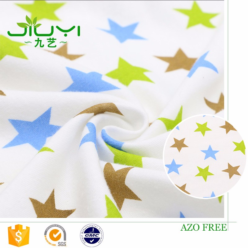 wholesale cheap knitting custom star print indonesia cotton fabric with star