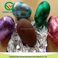 colored aluminum foil for egg chocolate packaging