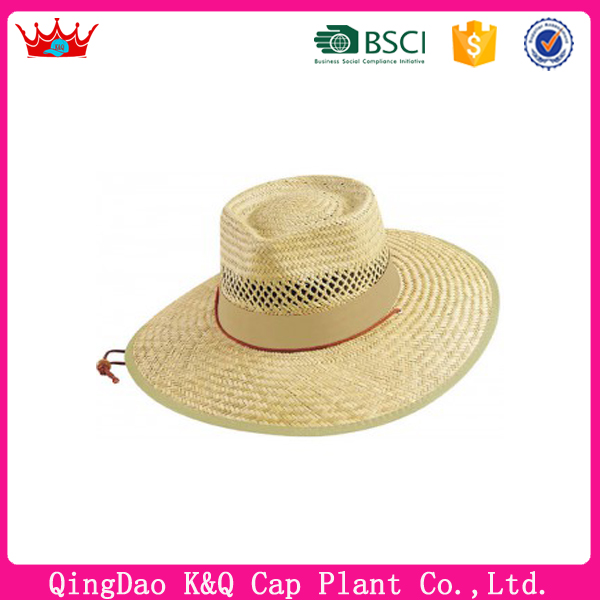 High quality and competitive price custom printted logo straw fedora hats