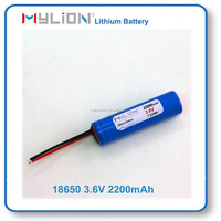 Mylion Lithium Battery for Beauty Instrument or Electric Shaver 18650 2200mah 3.6V