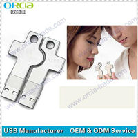 Individuality cute wedding gift metal key shape usb key for lovers with free logo printing