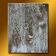 China Factory Handmade Modern Canvas Art Buddha Abstract Painting For Decoration Home