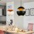 Guzhen Creative Aluminum Resturant Pendant Lamp Electroplate Golden Novelty Ceiling Bomb Shape Black and white lighting fixture