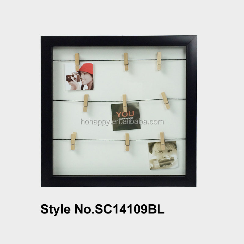 wall hanging decor rustic photo clips frame