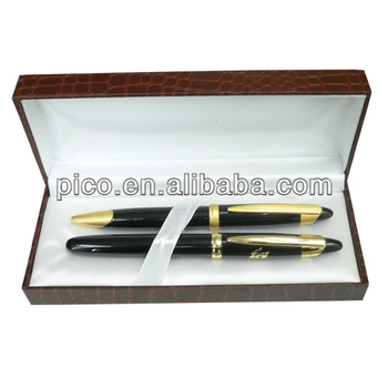 China New Products Metal Ballpoint Pen/Metal Roller Pen With Gift Cardboard Gift Box For Office