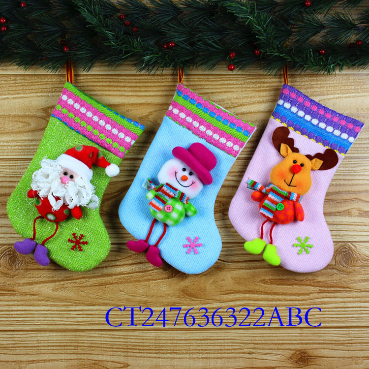 "Funny kids 11"" Christmas socks toy for sale CT247636322ABC"