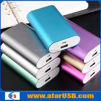 New top quality Aluminium case mini size power bank made by original mobile phone battery
