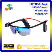 Wholesale digital trail camera WIFI Mobile APP Remote Control sport action camera 1080P Sport Sunglasses Camera