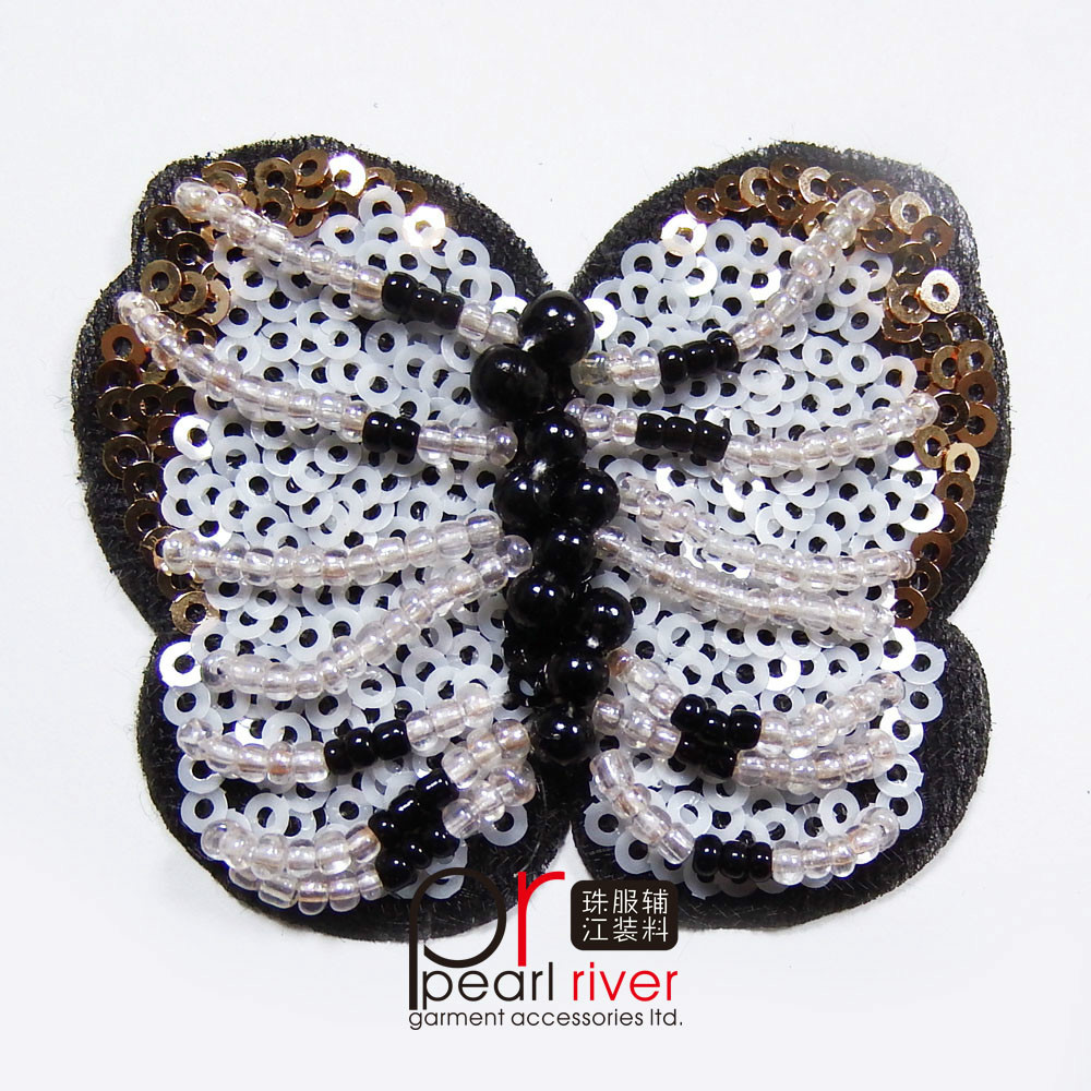 Wholesale Custom embroidery patch crystal stones sew in for garment