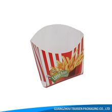 french fries fast food packaging box folding , paper chip packaging