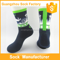 Single Cylinder Custom Terry Athletic Ski Socks Hot Sex Tube Mens Cartoon Socks