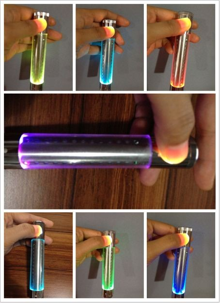 Pretty flashing led light smoking Kamry 1300mah stainless steel Legend ego lcd battery