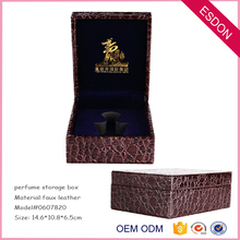 new design crocodile pattern leatherette packing storage box for perfume, essential oil, cosmetic,body car products,jewelry