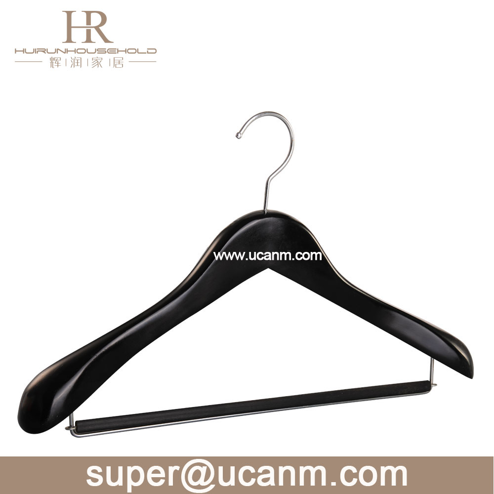 HRW8304B wooden coat hanger stand shop clothes hanger stand