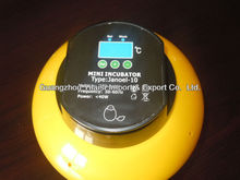 Good Quality Mini Egg Incubator JANOEL10 with CE Certificate