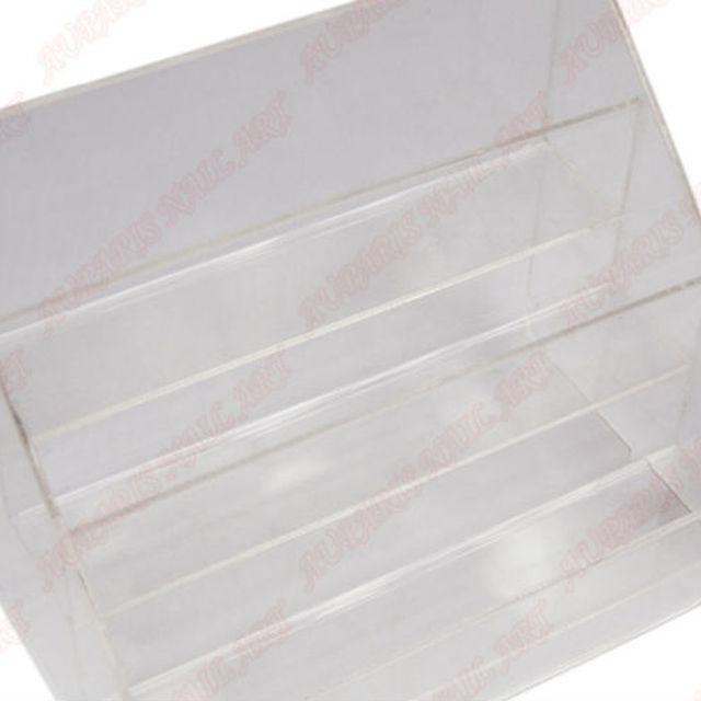 3 tiers acrylic nail polish display rack plaid pavans cosmetics rack display rack acrylic frame nail polish showcase display