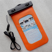 Orange Waterproof Underwater Wallet Pouch Case Bag for keys money cards maps phones NEW