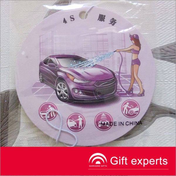 Cheapest 2013 Logo Printed classic car air freshener